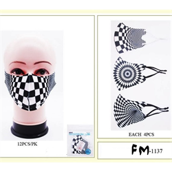 FACE MASK BLACK AND WHITE ASSORTMENT