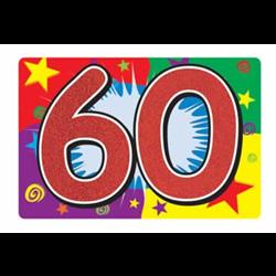 GLITTERED ''60'' SIGN