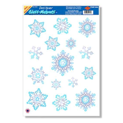 GLASS MAGNET SNOWFLAKE