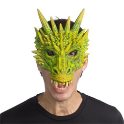 FANTASY DRAGON MASK - GREEN