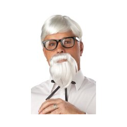 THE COLONEL WIG AND MOUSTACHE
