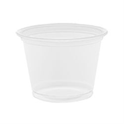 LID FOR PORTION CUPS PLASTIC 1oz 125/SLEEVE