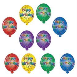 HAPPY BIRTHDAY MINI CUTOUTS 10/PKG