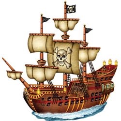 PIRATE SHIP JOINTED 31''