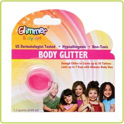 GLITTER BODY ART GLITTER - UV NEON PINK