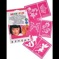 SNAZAROO FACE PAINTING STENCILS - GIRLS FANTASY