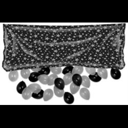 BALLOON DROP BAG WITH BALLOONS BLACK/SILVER