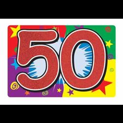 GLITTERED ''50'' SIGN