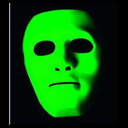 BLACKLIGHT BLAST GREEN GONZO MASK