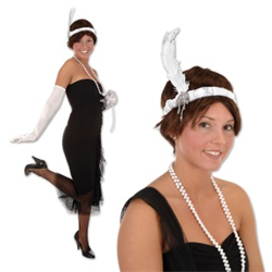FLAPPER HEADBAND WHITE