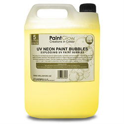 NEON UV PAINT BUBBLES 5L - YELLOW
