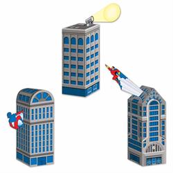 HERO CITY SCAPE FAVOUR BOXES 3/PKG