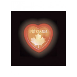 CANADA MAPLE LEAF GLO BADGE