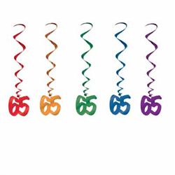 65 BIRTHDAY WHIRLS - 5/PKG