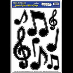 MUSIC NOTE PEEL N PLACE - 8 PER SHEET
