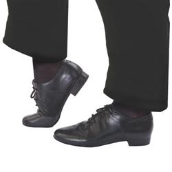"MENS SOCIAL DANCE SHOE BLACK 1"" ADULT 10 1/2 MEDIUM"