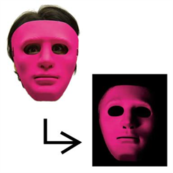 BLACKLIGHT BLAST PINK GONZO MASK