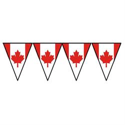 CANADA FLAG PENNANT BANNER