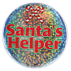 BUTTON SANTA HELPER LAZER ETCH