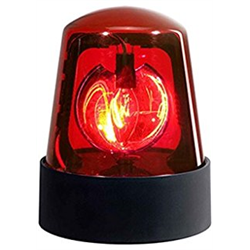"""POLICE BEACON - RED 7"""""""