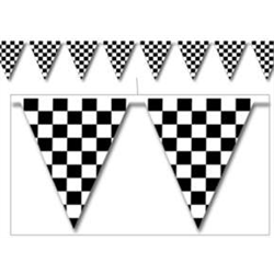 BANNER CHECKERED FLAG PENNANT