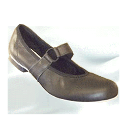 RINGO LEATHER SQUAREDANCE SHOE - BLACK - ADULT 9 WIDE
