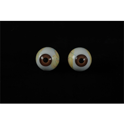 EYEBALLS BROWN WITH WHITE