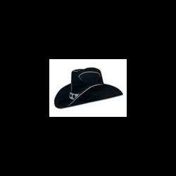 COWBOY HAT FOIL CUTOUT BLACK 19''