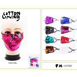 FACE MASK MERMAID STYLE SEQUIN ASSORTED COLOURS