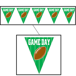 BANNER PENNANT GAME DAY 10''X 12'