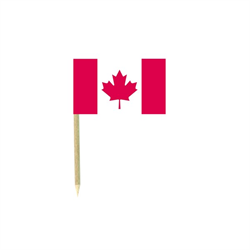 CANADA FLAG FOOD PICKS - 50/PKG