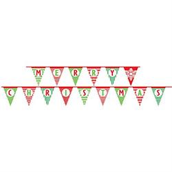 MERRY CHRISTMAS PAPER FLAG BANNER