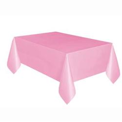 RECTANGULAR TABLE COVER PLASTIC LOVELY PINK
