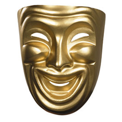 COMEDY MASK GOLD