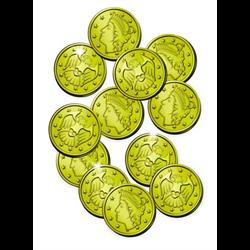COIN GOLD PLASTIC 100/PKG