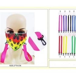 FACE MASK HOLDER ASSORTED COLOURS