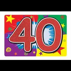 GLITTERED ''40'' SIGN